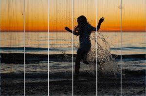 Spelen met zonsondergang