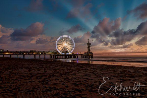 Zonsondergang Pier van Scheveningen