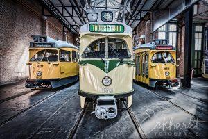 Oude PCC trams uit Den Haag
