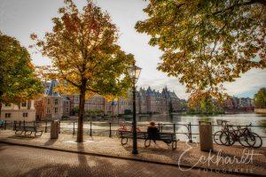 Hofvijver Den Haag in herfstkleuren